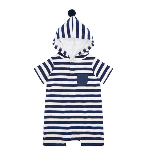 Striped Towelling Onesie Baby, ${color}