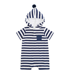 Striped Towelling Onesie Baby