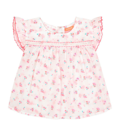 Ditsy Rose Romper Suit Baby, ${color}