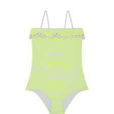 Pom-Pom Trim Swimsuit Kids