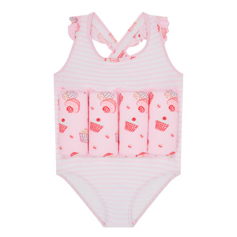 Mini Cupcake Print Floatsuit Kids, ${color}