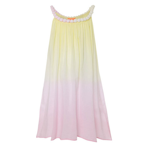 Pom-Pom Ombré Dress Teens, ${color}