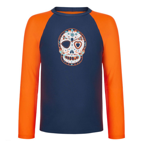Skull Print Rash Vest, ${color}