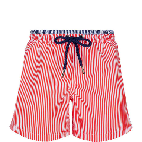 Striped Swim Shorts Teens, ${color}