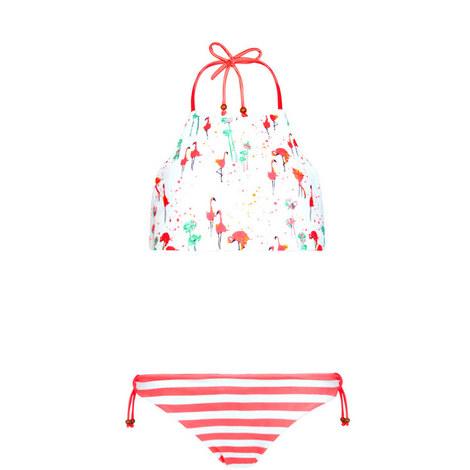 Flamingo Halter Bikini, ${color}