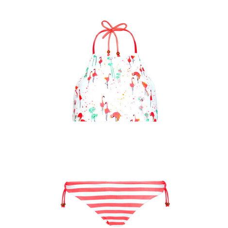 Flamingo Halter Bikini Kids, ${color}
