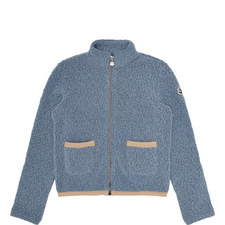 Zipped Wool Cardigan Teens