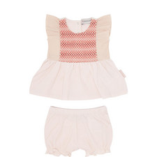 Two-Piece Embroidered Dress Baby