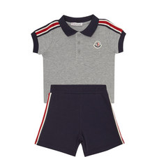 Two-Piece Polo Shirt & Shorts Set Baby