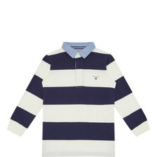 Long-Sleeved Rugby Stripe T-Shirt Kids