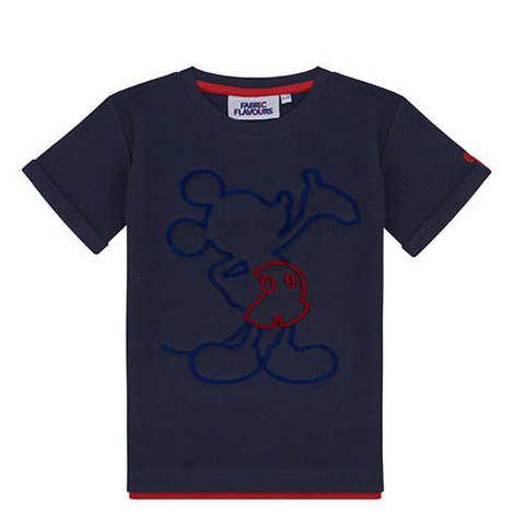 Navy Mickey Mouse Tuft Tshirt, ${color}