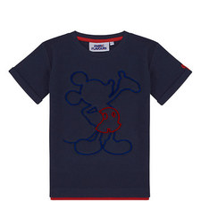 Navy Mickey Mouse Tuft Tshirt