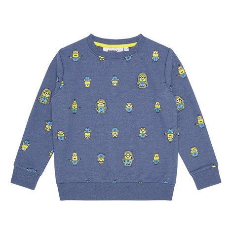 Minions Motif Sweatshirt Kids, ${color}