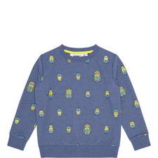 Minions Motif Sweatshirt Kids