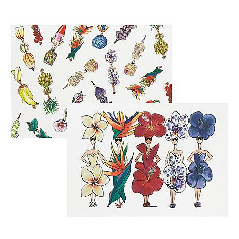 Floral Six Pack Notecards, ${color}