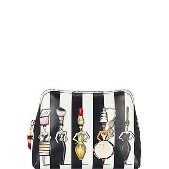 Striped Pouch Bag