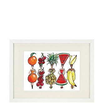 Fruity Dolls A4 Framed Print