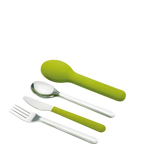 GoEat Space-Saving Stainless Steel Cutlery Set, ${color}