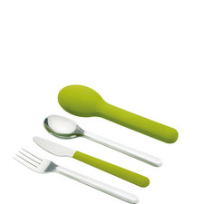 GoEat Space-Saving Stainless Steel Cutlery Set