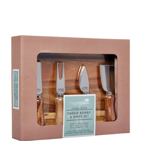 Acacia Wood Cheese Set, ${color}