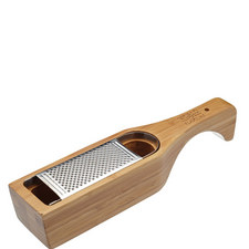 Italian Bamboo Grater with Holder