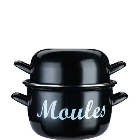 Enamelled Mussels Pot 24cm, ${color}
