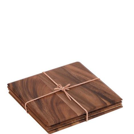 Square Acacia Table Mats, ${color}