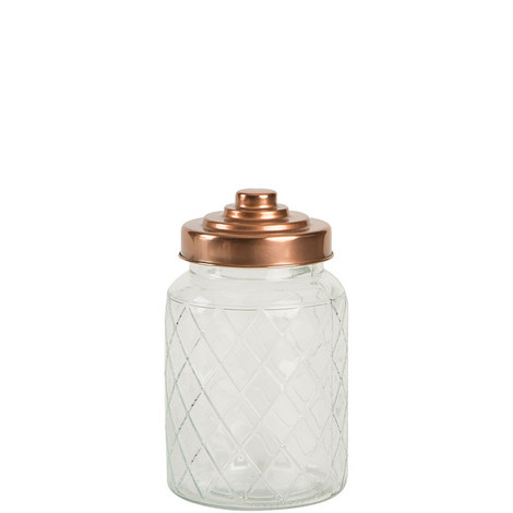 Copper Lid Lattice Jar Small, ${color}