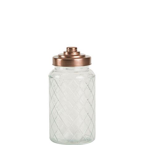 Copper Lid Lattice Jar Medium, ${color}