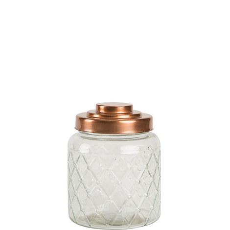 Copper Lid Lattice Jar Large, ${color}