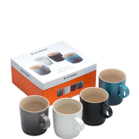 Stoneware Mugs set of 4, ${color}