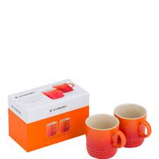 Set of 2 Espresso Mugs