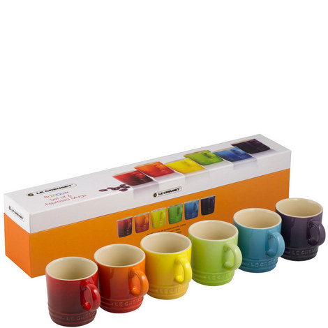 Stoneware Espresso Mug Set, ${color}