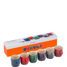 Set of 6 Moorland Espresso Mugs
