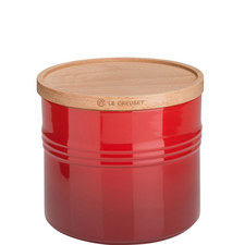 Stoneware Storage Jar with Lid Extra Large