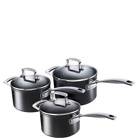 Toughened Non-Stick 3-Piece Saucepan Set, ${color}
