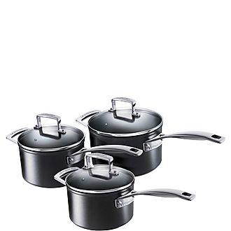 Toughened Non-Stick 3-Piece Saucepan Set