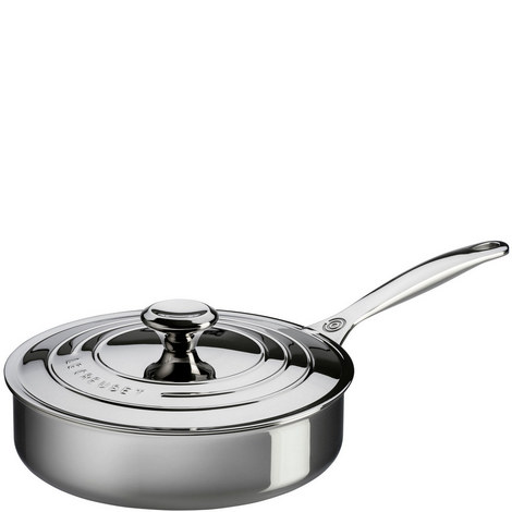 3-Ply Stainless Steel sauté Pan with Lid, ${color}