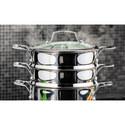 3-Tier Multi Steamer 20cm, ${color}