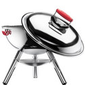 Fyrkat Chrome Charcoal Grill, ${color}
