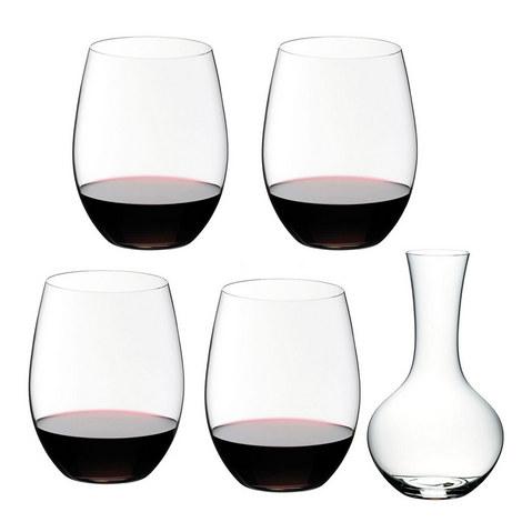 O Decanter & 4 Wine Glasses Gift Set, ${color}