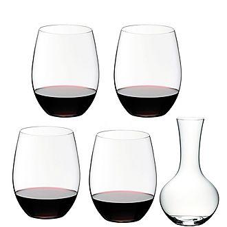 O Decanter & 4 Wine Glasses Gift Set