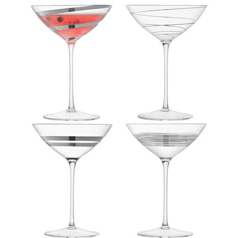 Gatsby 4 Piece Champagne/Cocktail Set, ${color}