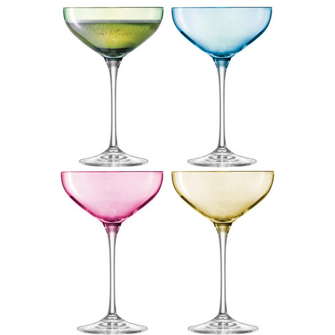 Polka Champagne Glasses Set of 4, ${color}