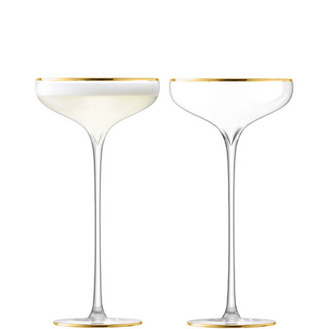 Celebrate Gold Champagne Saucers, ${color}