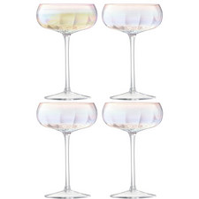 Pearlescent Champagne Saucer Set Of 4