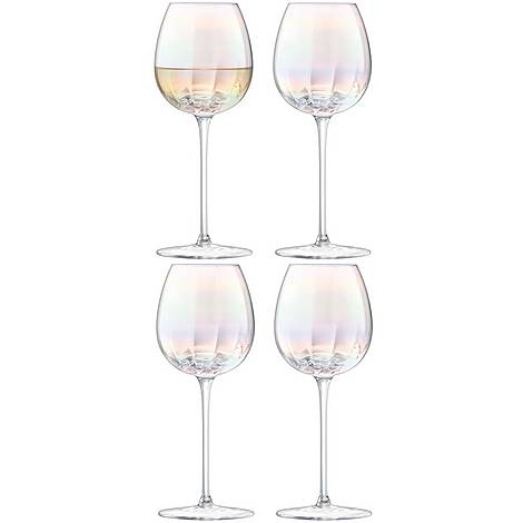 Set of Four Pearl Wine Glasses, ${color}