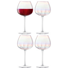Pearlescent Red Wine Glass Set Of Four