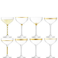 Deco Champagne Saucers Set of 8