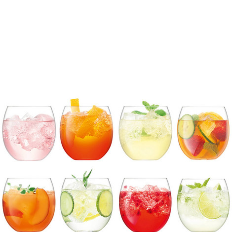 Set of 8 Balloon Tumblers 450ml, ${color}
